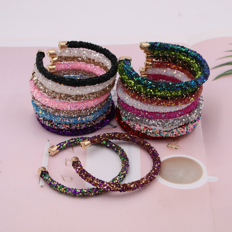 xujiafu New Color Resin Flash Bracelet Woman C-Bracelet For Women Charm Bracelet Fashion Party Jewelry Gifts Wholesale