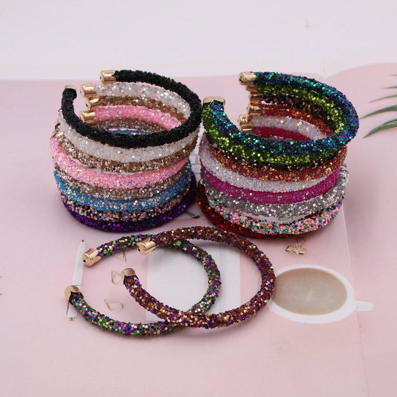 xujiafu New Color Resin Flash Bracelet Woman C-Bracelet For Women Charm Bracelet Fashion Party Jewelry Gifts Wholesale