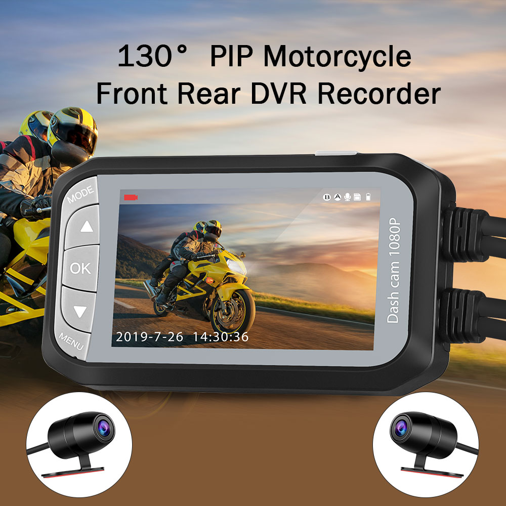 Waterproof Dual Motorbike Action Camera Recorder 3