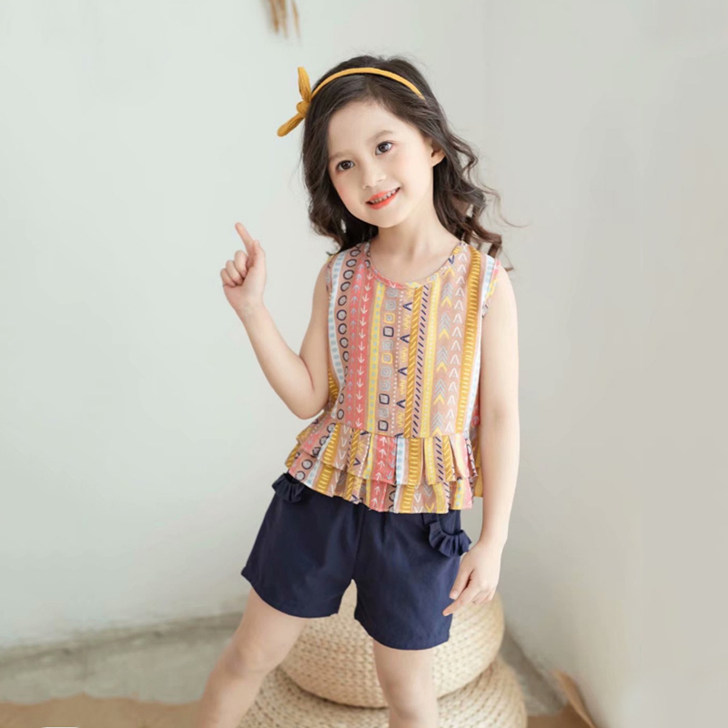 Girls Short Sleeve + Shorts Set Bohemian Stripes Toddler Baby Girls Wear  Summer Children's Cotton Set 2 Piece Set|Clothing Sets| - AliExpress