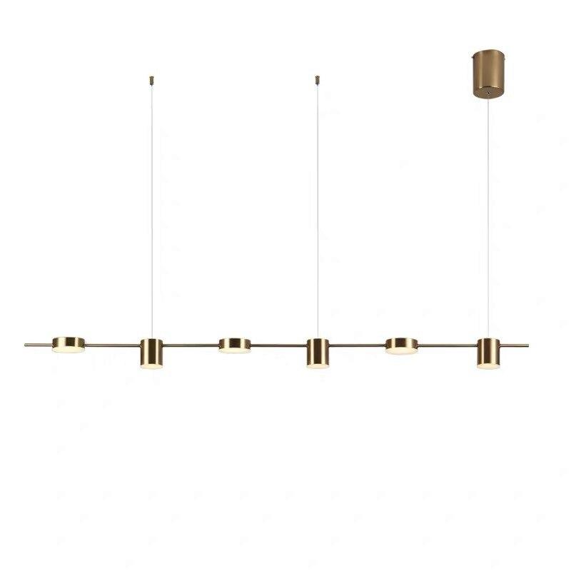 Post modern Golden Black LED pendant lights luxury living room long hanging lamp Nordic restaurant bedroom home deco fixtures in Pendant Lights from Lights Lighting