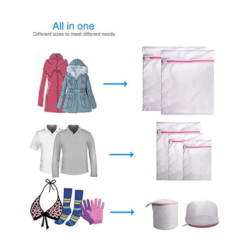 1-7Pcs/Set Laundry Bags Clothes Storage Bag Socks Underwear Storage Organizer Washing Protector For Travel