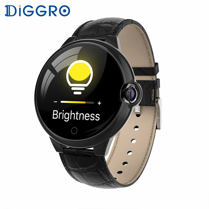 Diggro Smart Watch DR88 Bluetooth Waterproof Full Large Color Screen Heart Rate Blood Pressure Sleep Monitoring Classic Style