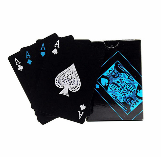 1 PCS PVC Poker Waterproof Plastic Playing Cards Set Black Color Poker Card Sets Classic Magic Tricks Tool Poker Games 1