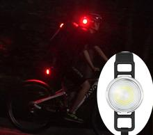 Bicycle Rear Light Goofy 2019 COB Bike For Helmet Backpack Running Lights USB rechargeable Tail Cycling Lamp