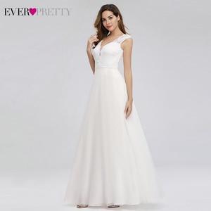 Image 3 - Elegante Spitze Hochzeit Kleider Immer Ziemlich EP00811WH A Line V ausschnitt Einfache Strand Stil Formale Braut Kleider Vestido De Novia 2020