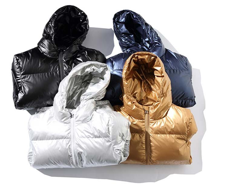 H169e36ac98404a6599f83e6ee8c36c9eR - Winter Men Jacket Thick Warm Parka Jackets Silver Bright Glossy Bread Coat Fashion Young Loose Hooded Cotton Jacket Outwear Male