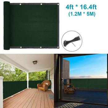 Privacy Fence Screen Mesh,Patio Deck Privacy Screen Shade Netting for Balcony Porch Deck Terrace Patio Backyard Railing -Green