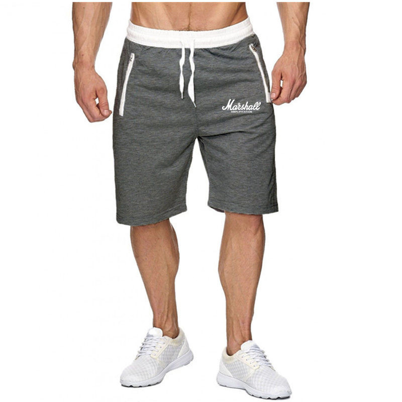 Men Gym Fitness Short Pants Summer Casual Thin Cool Bermuda Male Quick Dry Beach Shorts Breechcloth BottomsKnee Length