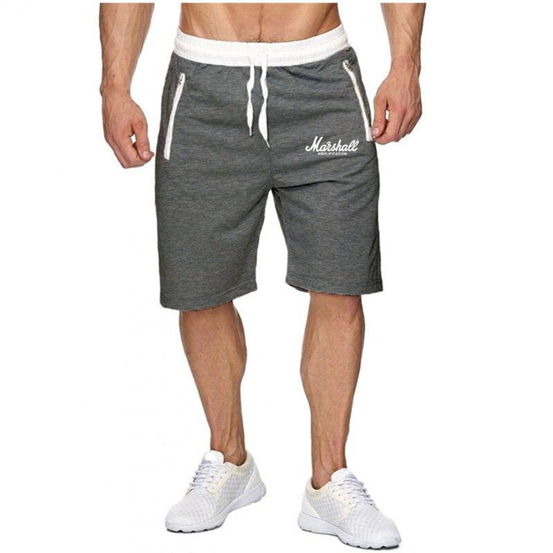 Men Gym Fitness Short Pants Summer Casual Thin Cool Bermuda Male Quick Dry Beach Shorts Breechcloth BottomsKnee Length