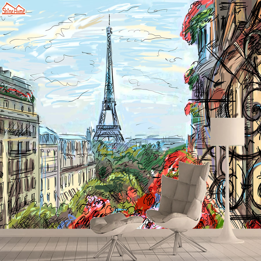 Contact Wall Paper Papers Home Decor 3d Wallpapers For Living Room Kids Bedroom Wallpaper Self Adhesive Mural Roll Eiffel Tower