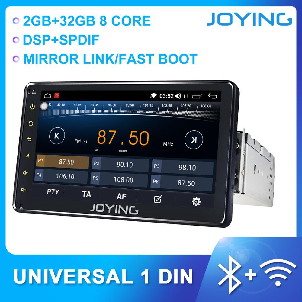 JOYING Android 8,1 Восьмиядерный 7 дюймовый автомобильный Радио плеер поддержка 4G DSP 2 ГБ и 32 Гб SWC зеркальная связь GPS навигация автомобильный мульти