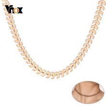 Модные ожерелья чокер vnox в форме стрелы для женщин 585 розовое