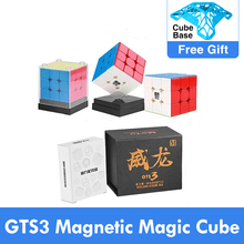 Neo Cube rompecabezas magnético de cubo mágico para niños, GTS3M, MoYu Weilong, GTS, V2, V3 M, 3x3x3 M, GTS2 M