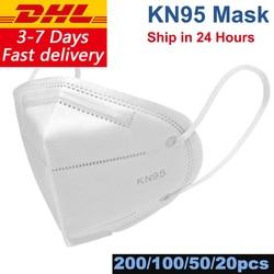 DHL Shipping 200/100/50/20pcs/Lot KN95 Face Mask N95 KN94 Nonwoven Dust Mask PM 2.5 Anti Virus Dust Mouth Facia Face Mouse Masks 1