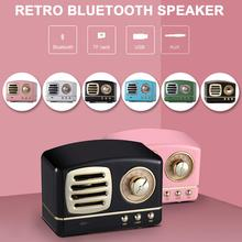 Portable Bluetooth Speaker Retro Mini Portable Wireless Bluetooth Speaker USB/TF Card Music Player HIFI Subwoofer Speaker Color colorful lights speaker funny bluetooth speaker flapping wireless bluetooth 5 0 speaker boombox hifi subwoofer tf card