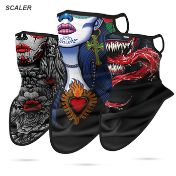 3D Motorcycle Face Masks Triangle Scarf Comics Movie Bandana Headband Halloween Mask Venom Neck Buffs Windproof Face Shield Mask