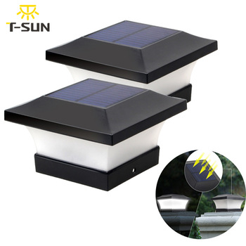 T-SUNRISE Solar Light Fence Light IP65 Outdoor Solar Lamp For Garden Decoration Gate Fence Wall Courtyard Cottage Solar Lamp 1