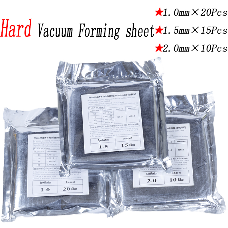 Dental Lab Vacuum Forming Machine Material Hard Sheet EVA 10/15/20Pcs 1.0mm1.5mm2.0mm 5