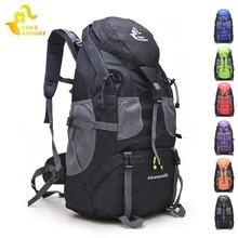 Бесплатный Рыцарь 50л походные рюкзаки, унисекс водонепроницаемый Треккинг Рюкзак, Открытый спорт Альпинизм сумки