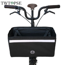TWTOPSE British Flag Bicycle Basket Bag For Brompton Folding Bike Bicycle Bag With Rain