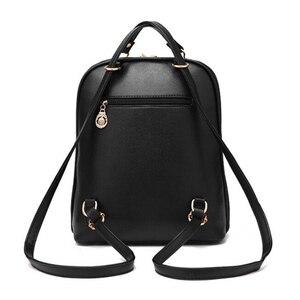 Image 3 - Tiki tarzı kadın sırt çantası oyuncak ayılar PU deri okul çantaları genç kızlar için kadın sırt çantası omuzdan askili çanta seyahat sırt çantası