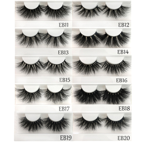 Image 3 - Buzzme Mink Eyelashes Wholesale 20/30/40/50pairs/lot 3D Mink Lashes Only With Tray No Box Makeup Dramatic Long Mink Lashes