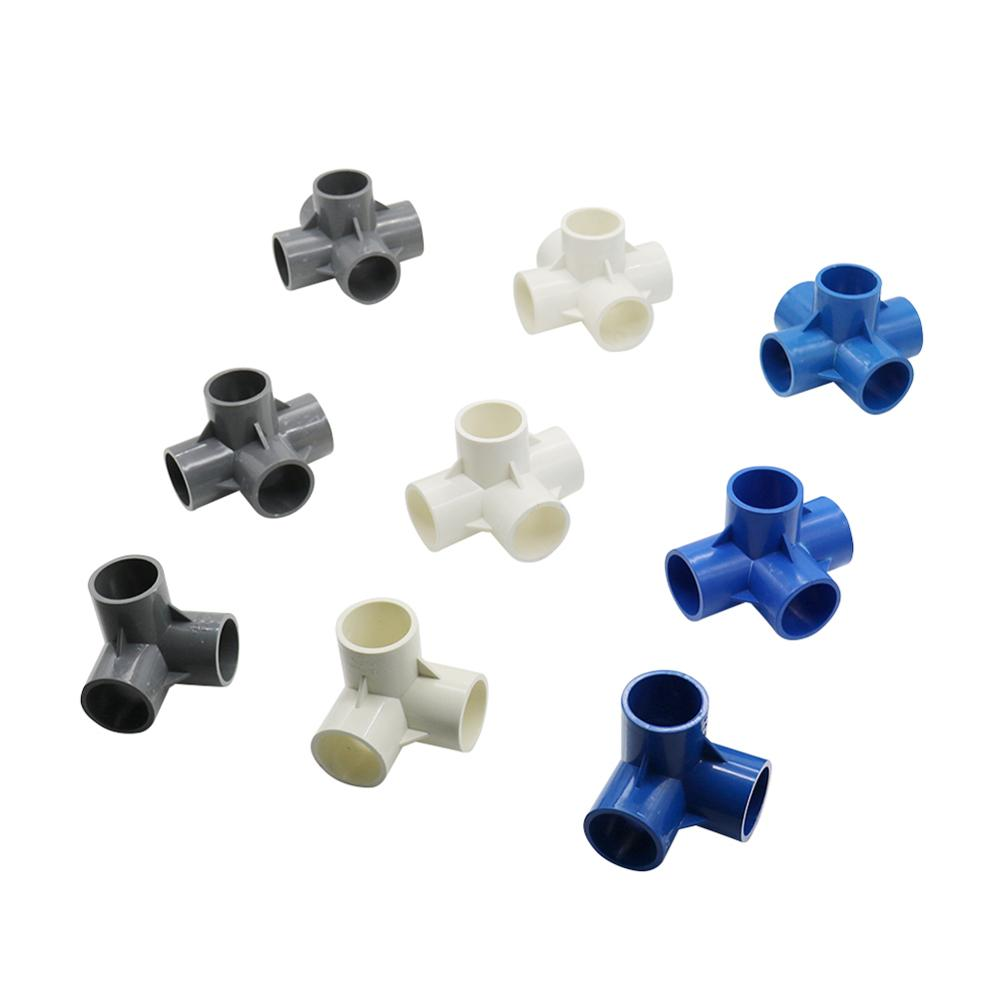 Inside Diameter 20mm 3-way/4-way/5-way Three-dimensional PVC Connector Water Supply Pipe Fittings Equal Connectors Plastic Joint