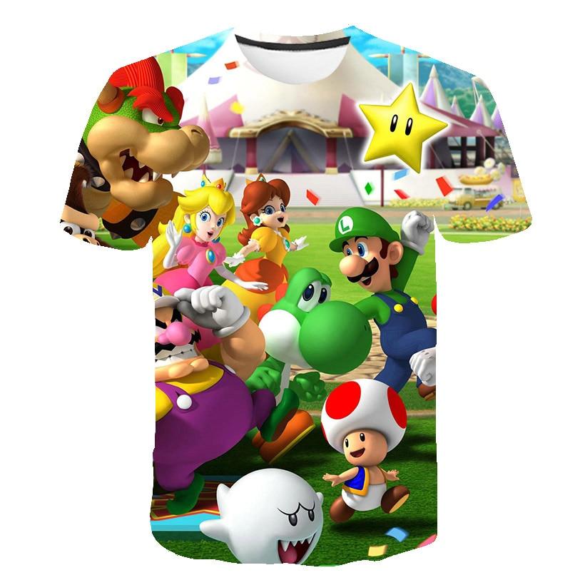 2019 Summer New Harajuku Style Classic Games Super Mario T Shirt Mario Bros 3D Print T-shirts Hip Hop Tshirt