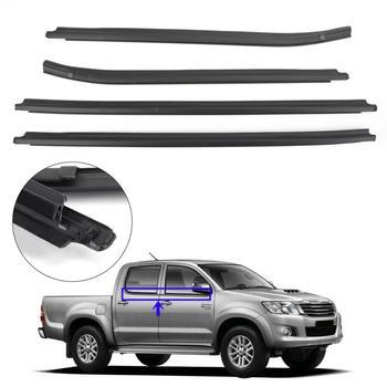 Areyourshop Weatherstrip 4 Door Rubber Seal For Toyota Hilux KUN26 KUN36 GGN25 TGN16 TGN36 Window Glass Seals Car Accessories