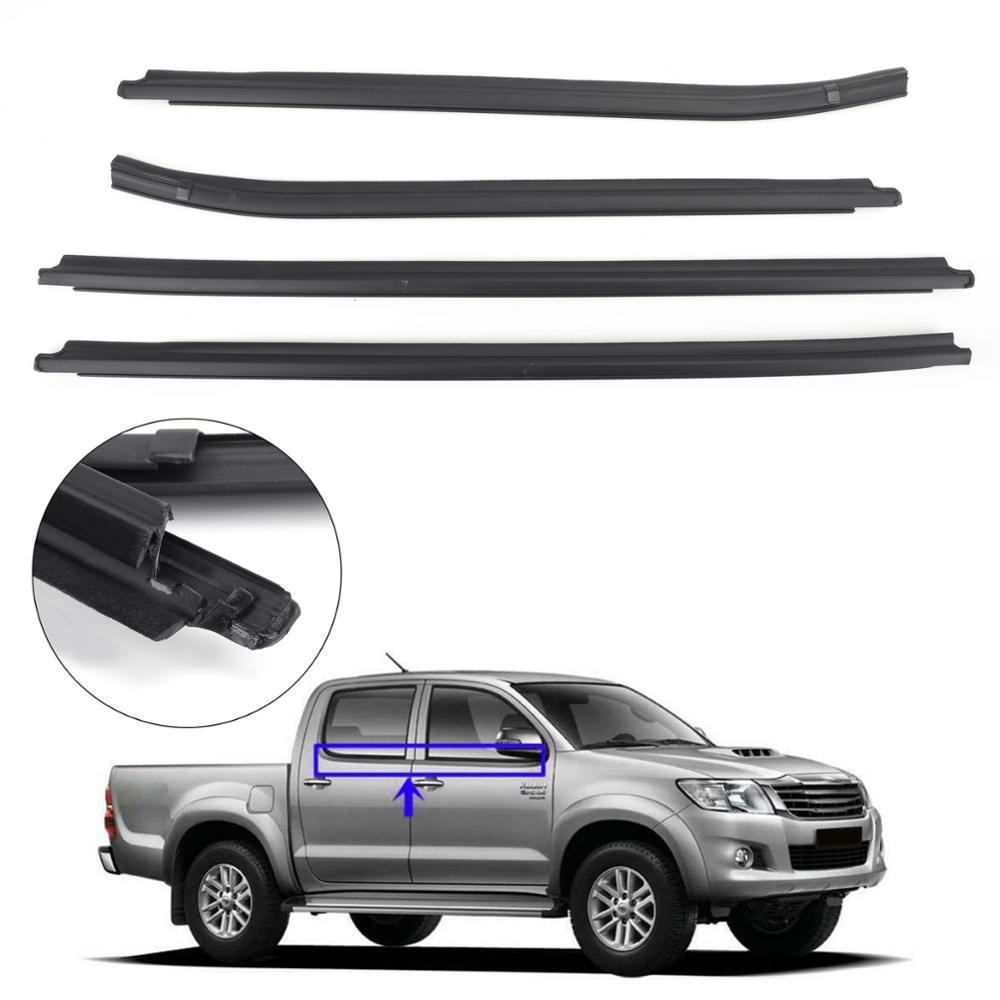 Areyourshop joint d'étanchéité 4 portes en caoutchouc pour Toyota Hilux KUN26 KUN36 GGN25 TGN16 TGN36 joints de vitre accessoires de voiture
