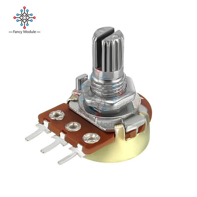 5 PCS/Lot potentiomètre résistance 1K 5K 10K 20K 50K 100K 500K 1MOhm 3 broches linéaire cône potentiomètre rotatif pour Arduino avec capuchon