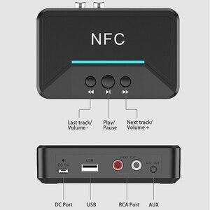 Image 5 - Bluetooth 5.0 מקלט מתאם NFC 3.5mm RCA אודיו AUX פלט אלחוטי Bluetooth Dongle סטריאו קולט עבור מגבר רמקול