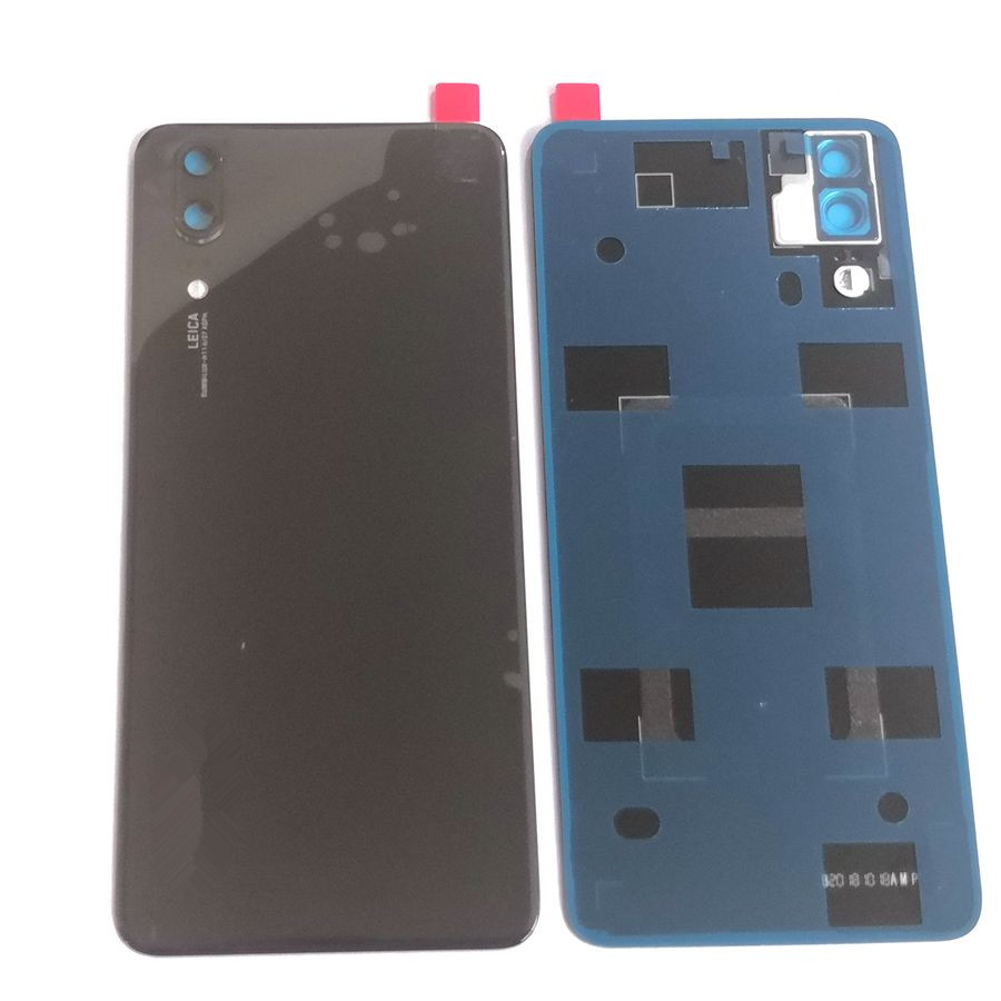 For <font><b>huawei</b></font> <font><b>p20</b></font> <font><b>Battery</b></font> <font><b>cover</b></font> back rear door housing For <font><b>p20</b></font> EML-L29 back frame glass spare parts with camera lens image