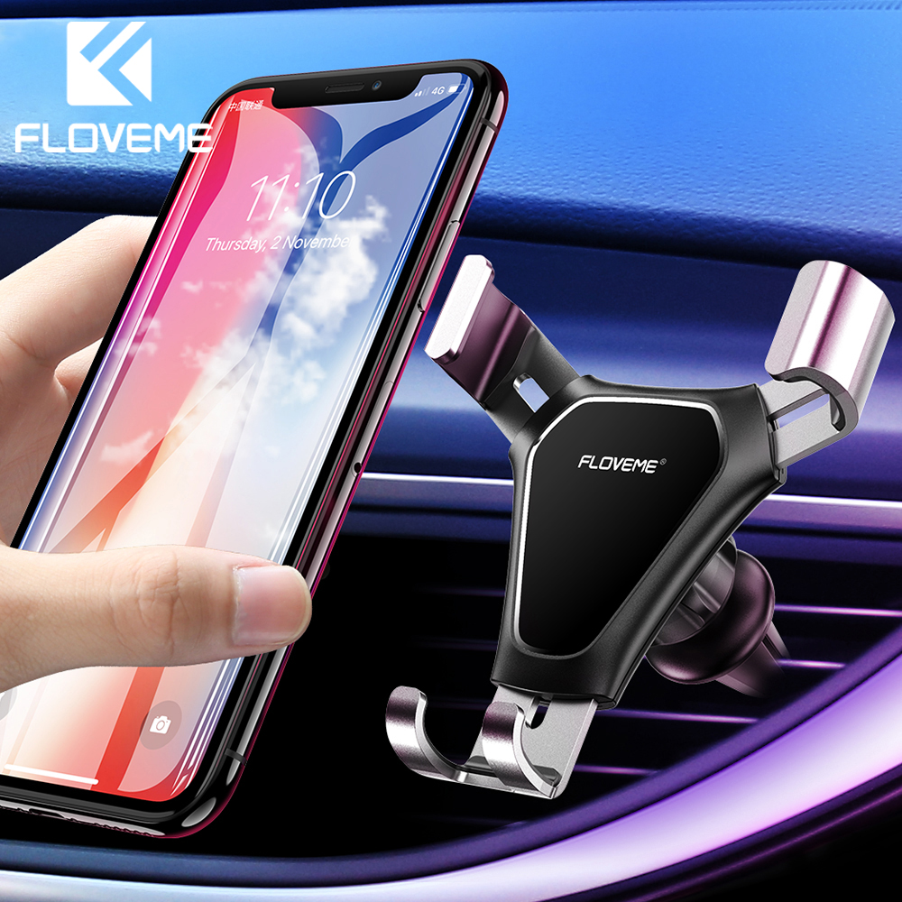 FLOVEME Gravity Car Holder For Phone In Car Mobile Phone Air Vent Mount Stand For Samsung Note 10 Plus Support Cellphone Holder
