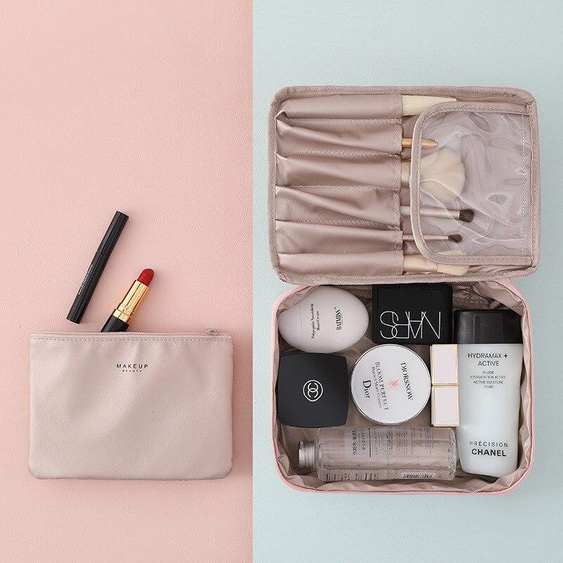 Multifunction Waterproof Female Cosmetic Bag Travel Handbag Organizer Toiletries Beauty Pouch Large Capacity Makeup Bag