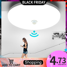 LED Ceiling Lamp PIR Motion Sensor 220V 110V 9W 13W 18W 24W 36W Warm White Cold White Mordern Ceiling Lights For Foyer Hallways