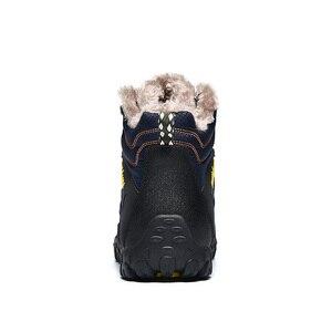Image 3 - SUROM 2019 Winter männer Stiefel Warme Wasserdichte Outdoor Nicht schlupf Knöchel Schnee Boot Dicken Plüsch Gummi Winter Arbeit sicherheit Männlichen Schuhe