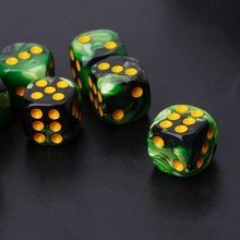 10pcs Six Sided 12mm Transparent Cube Round Corner Portable Table Playing Games  652D