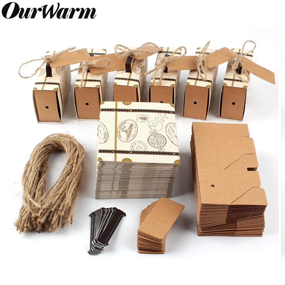 OurWarm 10pcs Wedding Suitcase Candy Boxes Travel Themed Party Decoration Classic Gift Paper Boxes Birthday Party Favor