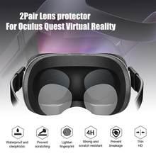 2 pares de lente protetor de realidade virtual len hd filme claro para oculus quest rift ir 3d óculos vr ar portátil áudio vídeo