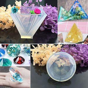 Image 5 - Grands moules en Silicone pour bricolage époxy, y compris le moule en pierre Cube, moule de moulage de résine, 1 ensemble