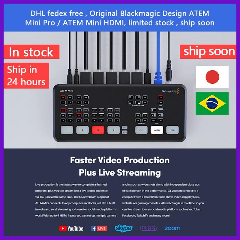Switcher Multi-View Live-Stream Blackmagic-Design Mini Hdmi Recording Features And ATEM