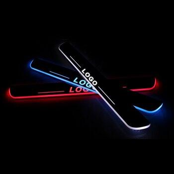 โลโก้ที่กำหนดเอง LED ประตูสำหรับ Mazda รถอุปกรณ์เสริมเกณฑ์ Pedal ประตู Sills