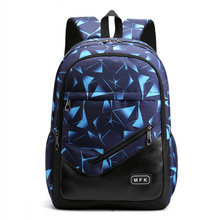Litthing New School Fashion Men Backpack Bag Water Proof men External USB Charge Rucksack Large Capacity Student Bags