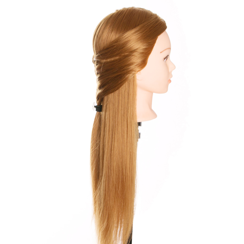 Newly Hairdressing Dolls Head Long Hair Practice Training Professional Salon Styling CTN88