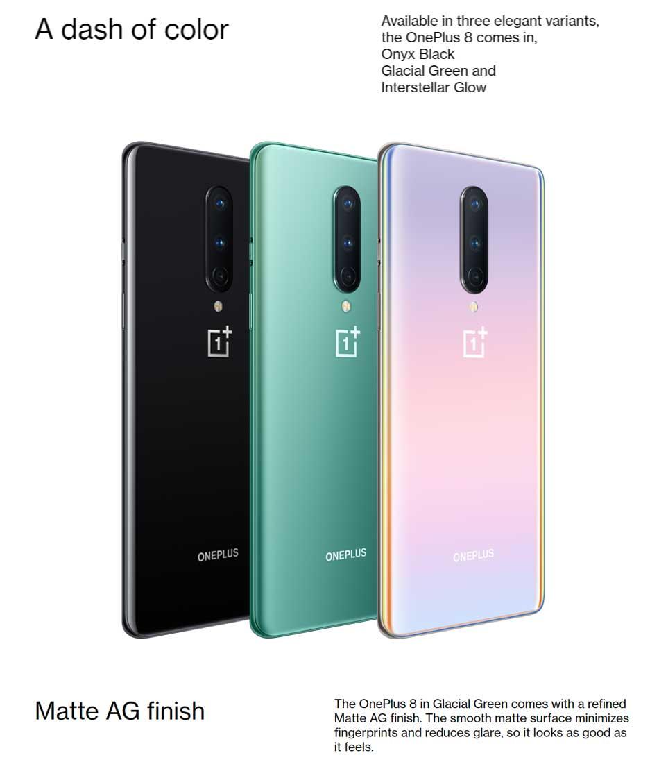 "Global Firmware Oneplus 8 5G Mobile Phone 12GB 256GB /8GB 128GB 6.55"" 90Hz Snapdragon 865 48MP 30W NFC 5G Smartphone"
