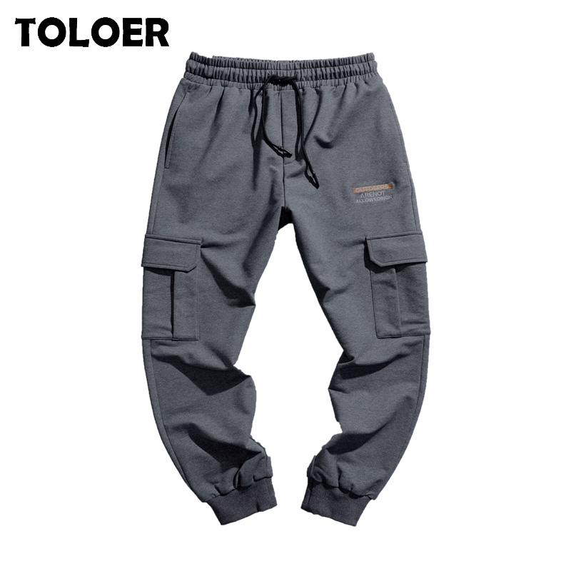 2020 New Fashion Cargo Pants Men Street Style Cotton Tactical Jogger Pants Male Casual Slim Sweatpants Men''s Hip Hop Harem Pants