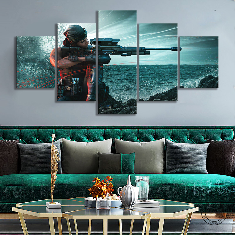 Rainbow Six Siege Operation Shifting Tides Female Sniper Game Character Poster HD Wall Picture Canvas Paintings for Home Decor 1