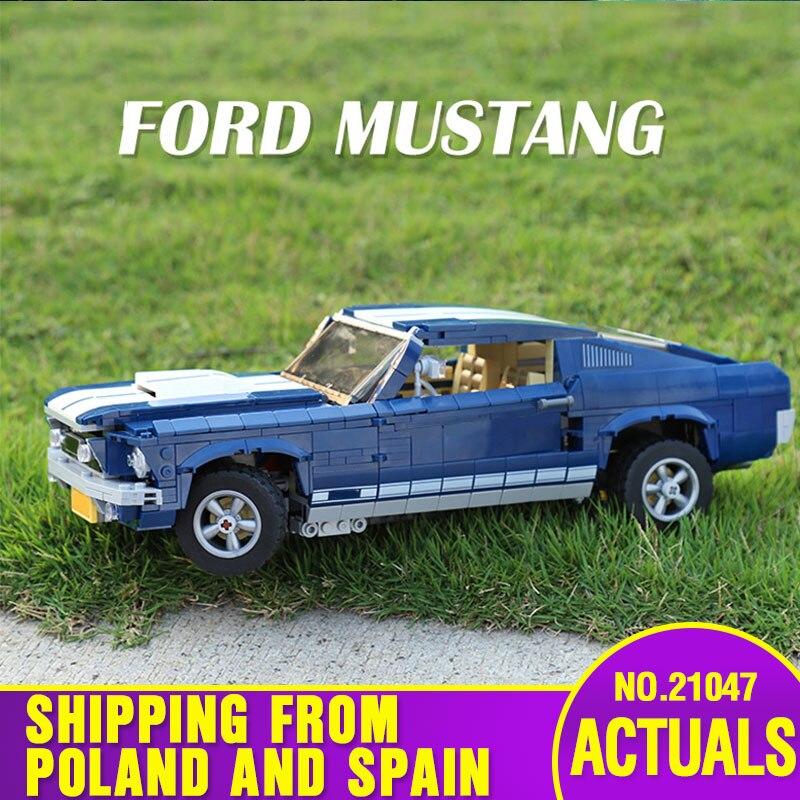 Oyuncaklar ve Hobi Ürünleri'ten Bloklar'de DHL 21047 Teknik oyuncak arabalar 10265 Mavi Mustang araç seti Yapı Taşları Tuğla Çocuk Montaj Araba Modeli Oyuncaklar Doğum Günü Hediyeleri'da  Grup 1